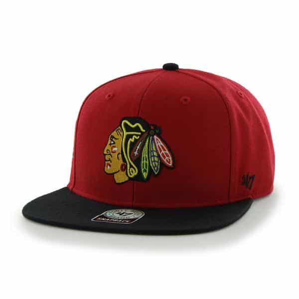 Chicago Blackhawks Sure Shot Two Tone Captain Red 47 Brand Adjustable Hat