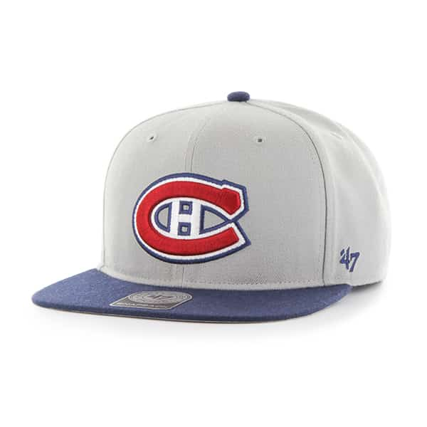 Montreal Canadiens Sure Shot Two Tone Captain Gray 47 Brand Adjustable Hat