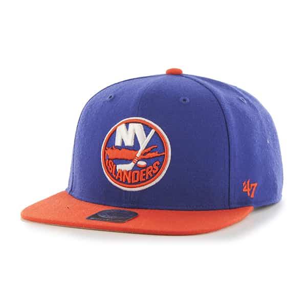 New York Islanders Sure Shot Two Tone Captain Royal 47 Brand Adjustable Hat