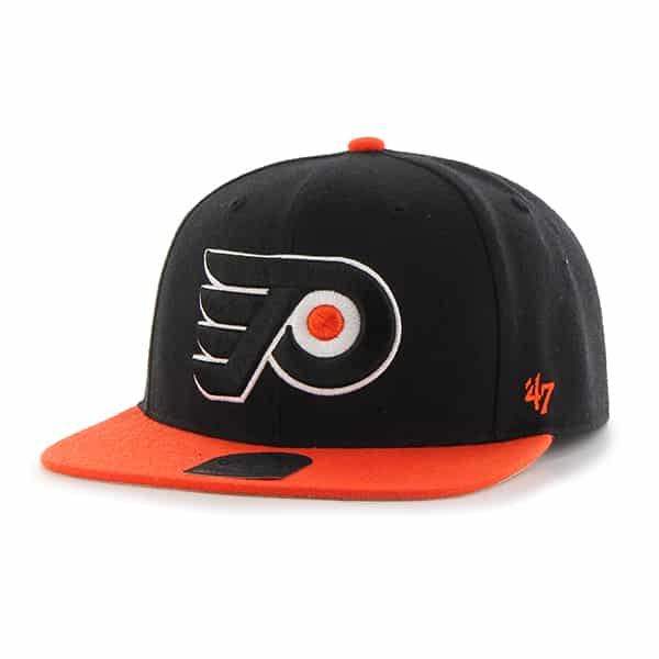 Philadelphia Flyers Sure Shot Two Tone Captain Black 47 Brand Adjustable Hat