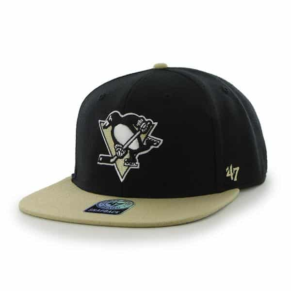 Pittsburgh Penguins Sure Shot Two Tone Captain Black 47 Brand Adjustable Hat