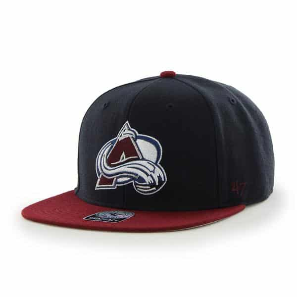 Colorado Avalanche Sure Shot Two Tone Captain Navy 47 Brand Adjustable Hat