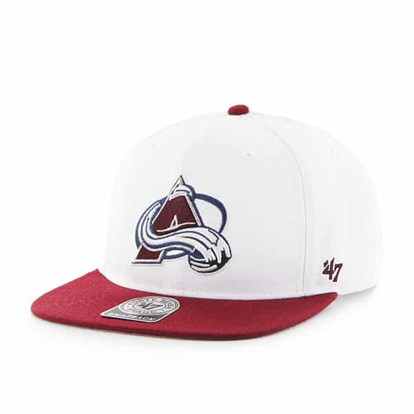 Colorado Avalanche Sure Shot Two Tone Captain White 47 Brand Adjustable Hat