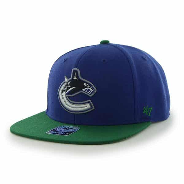 Vancouver Canucks Sure Shot Two Tone Captain Royal 47 Brand Adjustable Hat