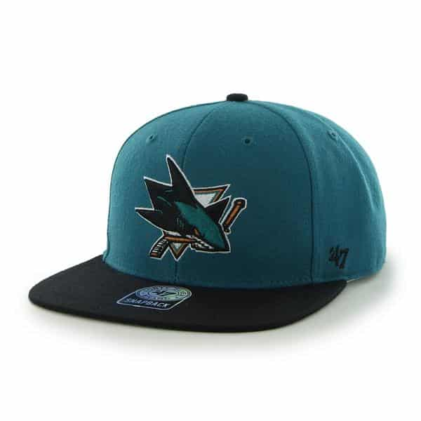 San Jose Sharks Sure Shot Two Tone Captain Dark Teal 47 Brand Adjustable Hat