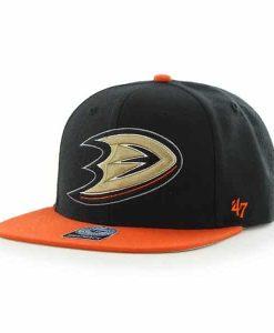 Anaheim Ducks Sure Shot Two Tone Captain Black 47 Brand Adjustable Hat
