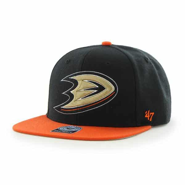 Anaheim Ducks Sure Shot Two Tone Captain Black 47 Brand Adjustable Hat