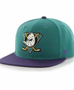 Anaheim Ducks Sure Shot Two Tone Captain Tailgate Teal 47 Brand Adjustable Hat