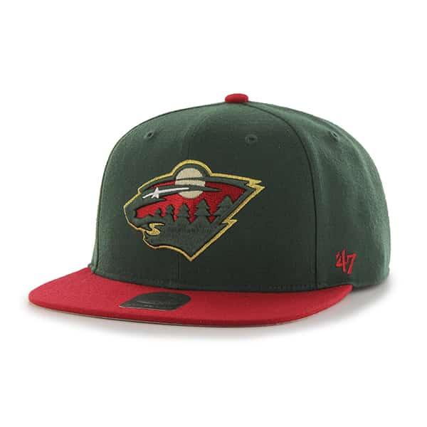 Minnesota Wild Sure Shot Two Tone Captain Dark Green 47 Brand Adjustable Hat