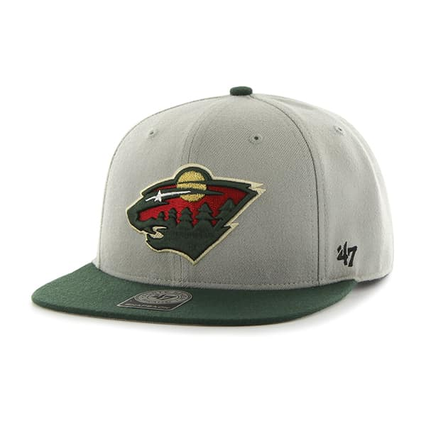 Minnesota Wild Sure Shot Two Tone Captain Gray 47 Brand Adjustable Hat