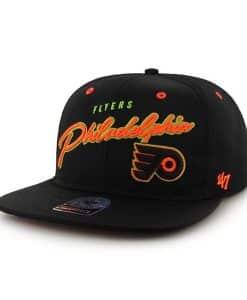 Philadelphia Flyers Sweet Cheese Logo Black 47 Brand Adjustable Hat