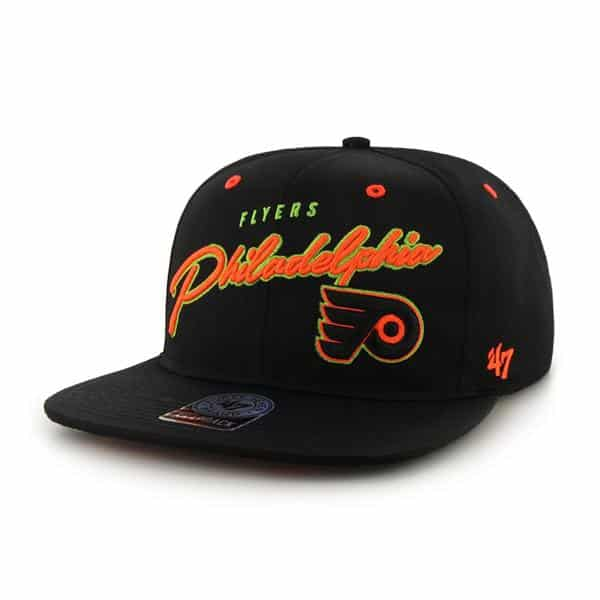 Philadelphia Flyers Sweet Cheese Logo Black 47 Brand Adjustable Hat