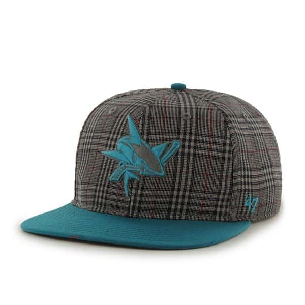 San Jose Sharks Sixty Minutes Dark Gray 47 Brand Adjustable Hat