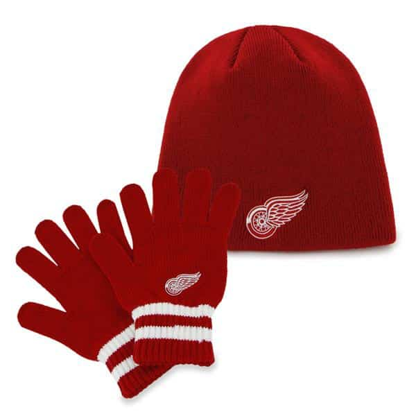 Detroit Red Wings Team Player Set Red 47 Brand YOUTH Hat