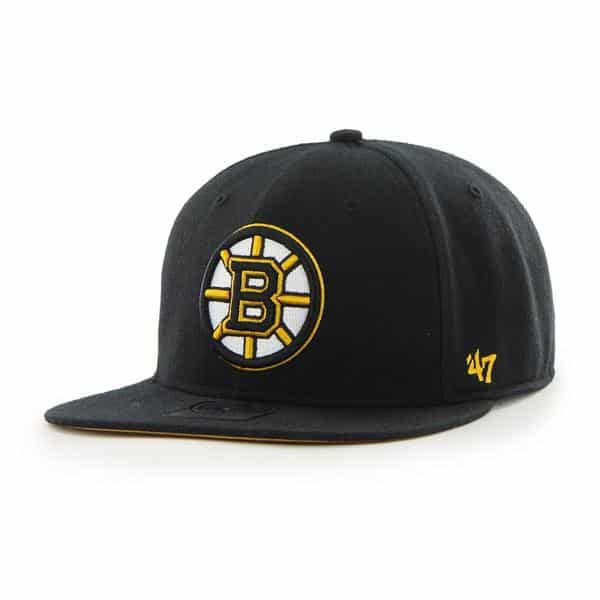 Boston Bruins The Shaft Black 47 Brand Adjustable Hat