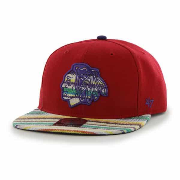 Chicago Blackhawks Warchild Red 47 Brand Adjustable Hat