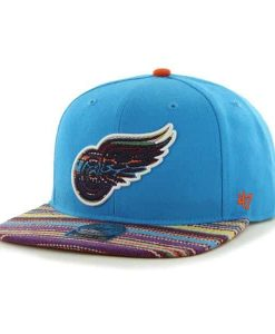Detroit Red Wings Warchild Glacier Blue 47 Brand Adjustable Hat