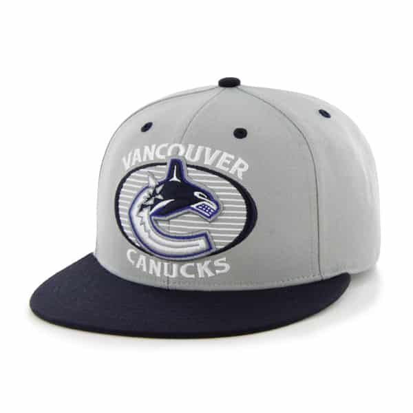 Vancouver Canucks West Forth Gray 47 Brand Adjustable Hat
