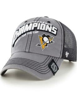 Pittsburgh Penguins Nhl On Ice Conference Champs Clean Up Dark Gray 47 Brand Adjustable Hat