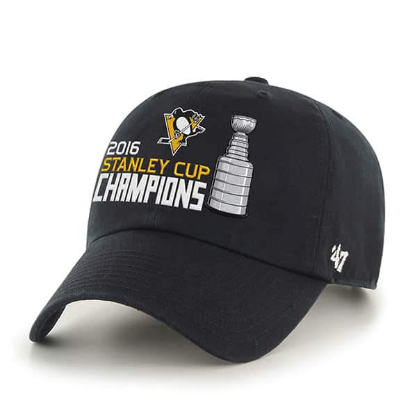 Pittsburgh Penguins Nhl Stanley Cup Champions Black 47 Brand Adjustable Hat