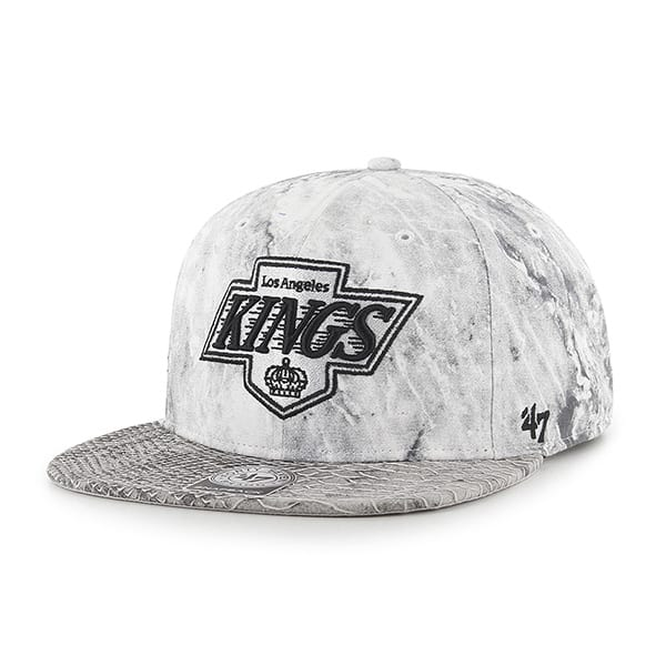 Los Angeles Kings B 47 Brand Stretch Fit Hat Out Captain White 47 Brand Adjustable Hat