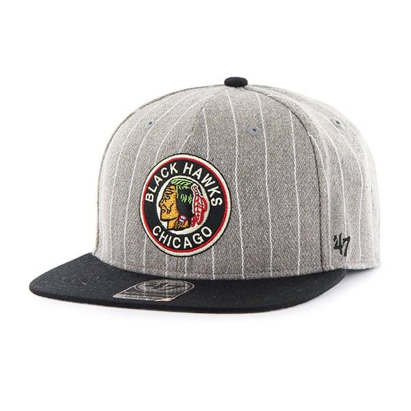 Chicago Blackhawks Holbrook Captain Gray 47 Brand Adjustable Hat