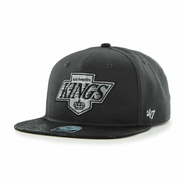 Los Angeles Kings Juli Gunk Croc Vintage Charcoal 47 Brand Adjustable Hat