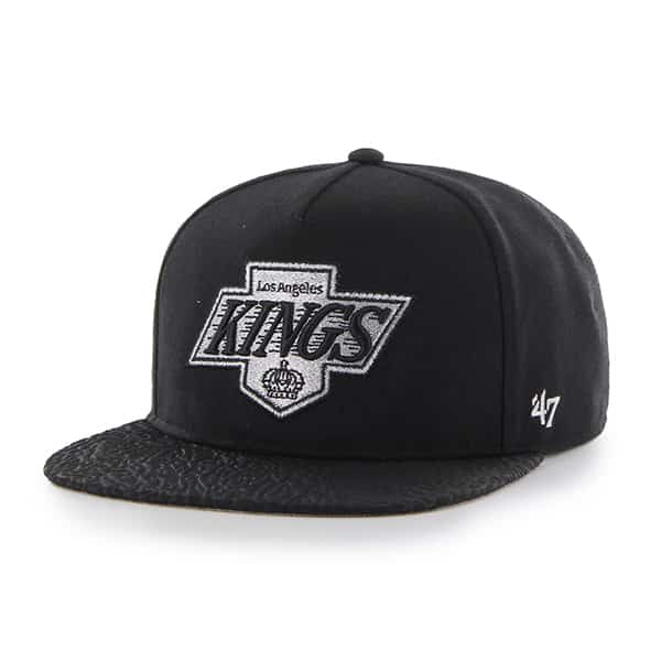Los Angeles Kings Metallic Elephant Captain Black 47 Brand Adjustable Hat
