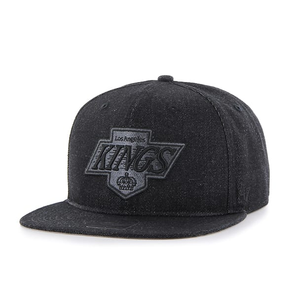 Los Angeles Kings Nero Captain Black 47 Brand Adjustable Hat
