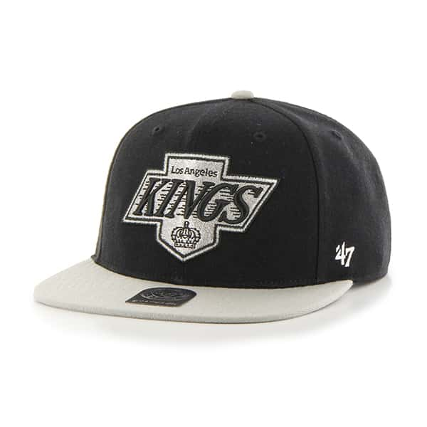 Los Angeles Kings No Shot Two Tone Captain Black 47 Brand YOUTH Hat