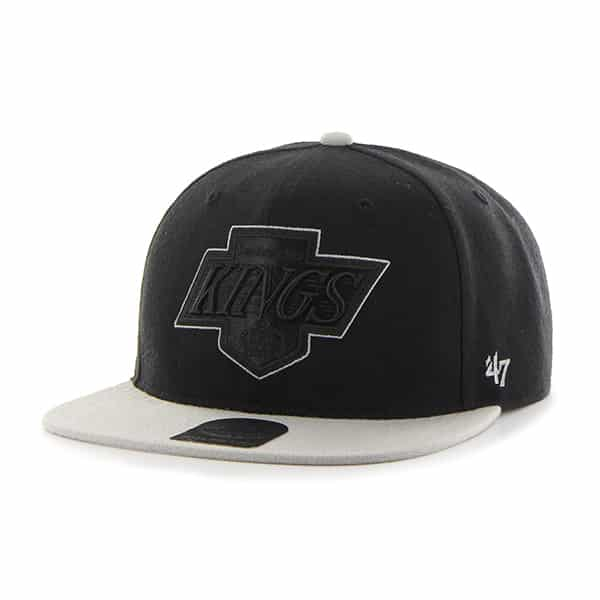 Los Angeles Kings No Shot Two Tone Captain Black 47 Brand Adjustable Hat