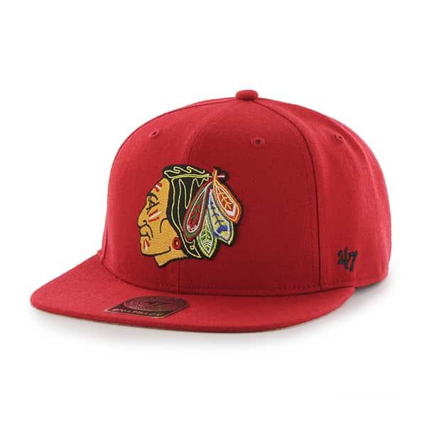 Chicago Blackhawks Sure Shot Red 47 Brand Adjustable Hat