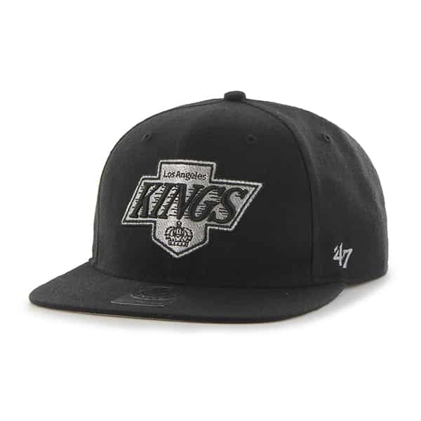 Los Angeles Kings Sure Shot Black 47 Brand Adjustable Hat