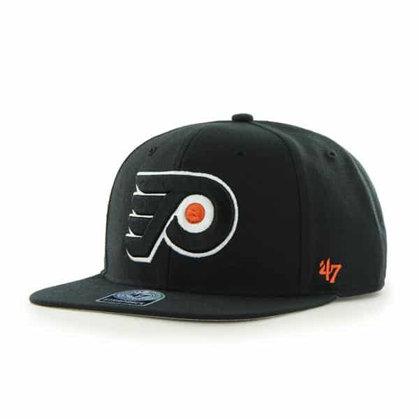 Philadelphia Flyers Sure Shot Black 47 Brand Adjustable Hat