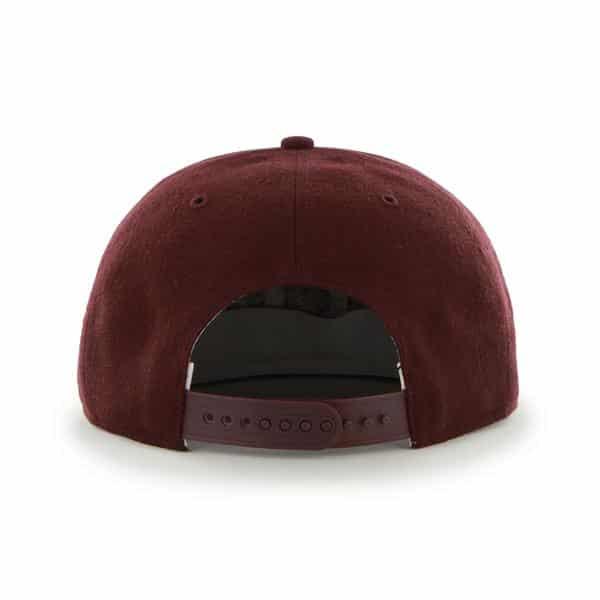 huge selection of 3bd07 2a105 Montreal Maroons Sure Shot Dark Maroon 47 Brand Adjustable Hat. Montreal ...