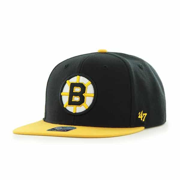 Boston Bruins Sure Shot Two Tone Captain Black 47 Brand Adjustable Hat