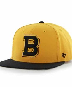 Boston Bruins Sure Shot Two Tone Captain Gold 47 Brand Adjustable Hat