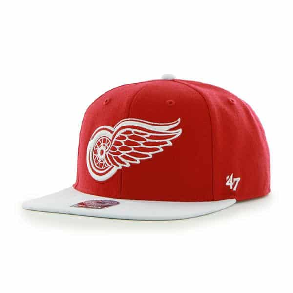 Detroit Red Wings Sure Shot Two Tone Captain Red 47 Brand Adjustable Hat