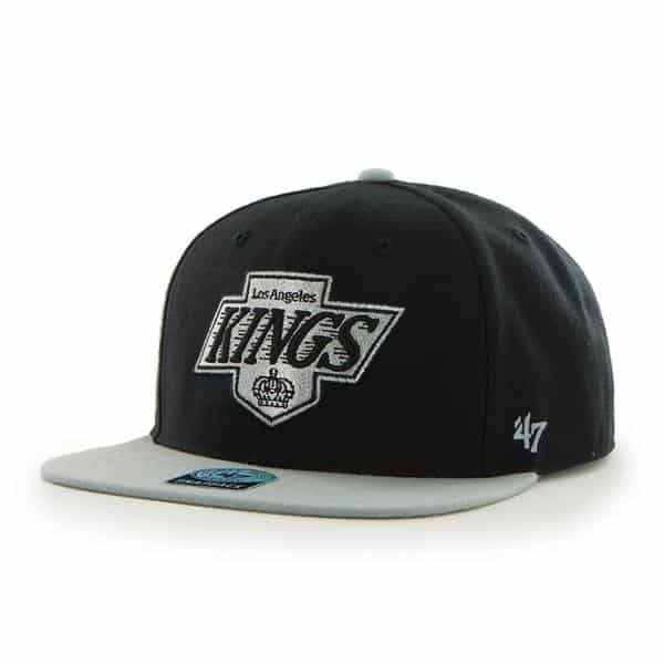 Los Angeles Kings Sure Shot Two Tone Captain Black 47 Brand Adjustable Hat