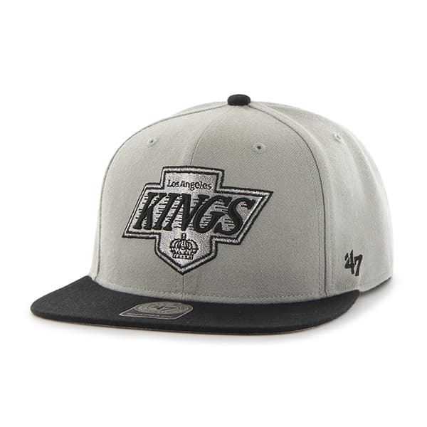 Los Angeles Kings Sure Shot Two Tone Captain Gray 47 Brand Adjustable Hat