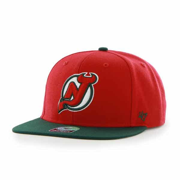 New Jersey Devils Sure Shot Two Tone Captain Red 47 Brand Adjustable Hat