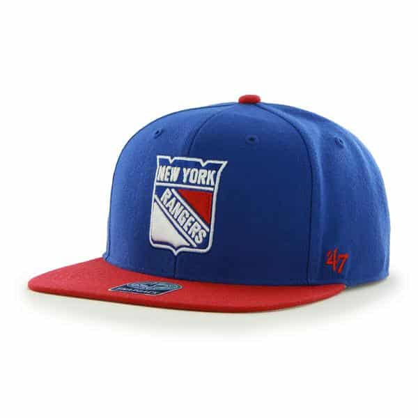 New York Rangers Sure Shot Two Tone Captain Royal 47 Brand Adjustable Hat