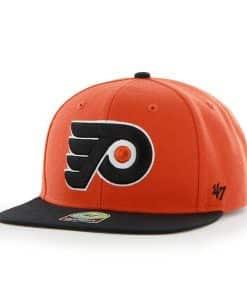 Philadelphia Flyers Sure Shot Two Tone Captain Orange 47 Brand Adjustable Hat