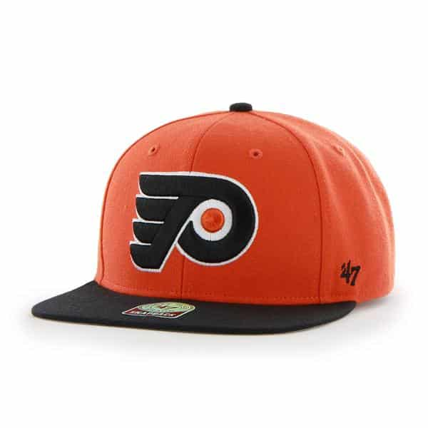 Philadelphia Flyers Sure Shot Two Tone Captain Orange 47 Brand Adjustable Hat