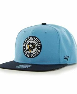 Pittsburgh Penguins Sure Shot Two Tone Captain Columbia 47 Brand Adjustable Hat