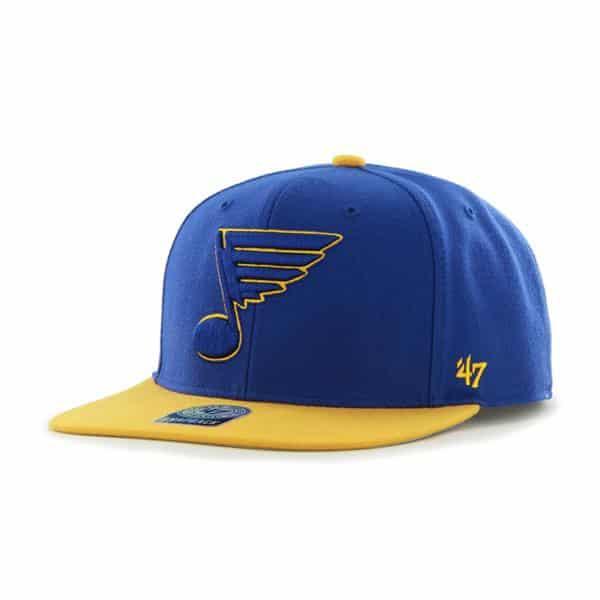 St Louis Blues Sure Shot Two Tone Captain Royal 47 Brand Adjustable Hat