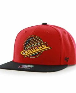 Vancouver Canucks Sure Shot Two Tone Captain Red 47 Brand Adjustable Hat