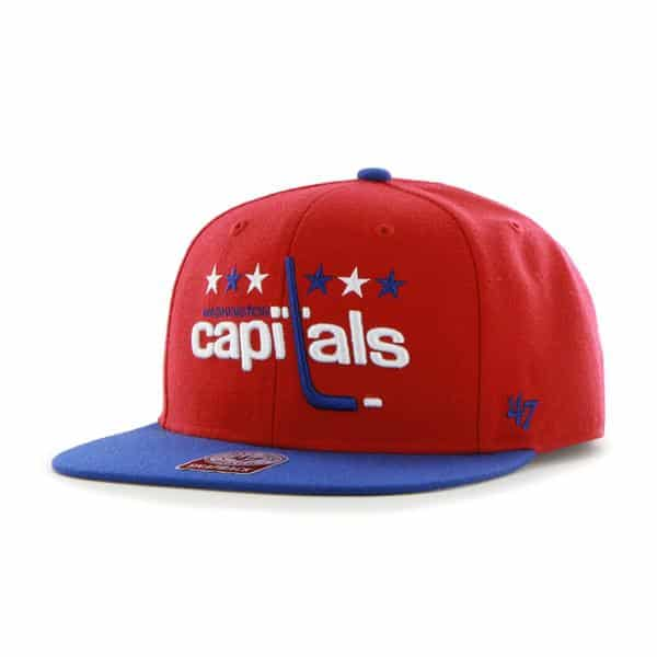 Washington Capitals Sure Shot Two Tone Captain Red 47 Brand Adjustable Hat