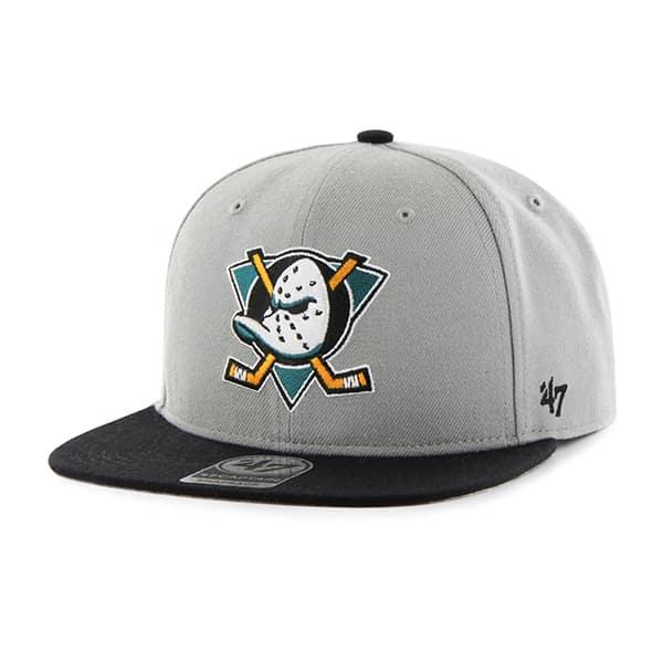 4b002844e Anaheim Ducks Sure Shot Two Tone Captain Gray 47 Brand Adjustable Hat