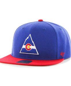 Colorado Rockies Sure Shot Two Tone Captain Royal 47 Brand Adjustable Hat